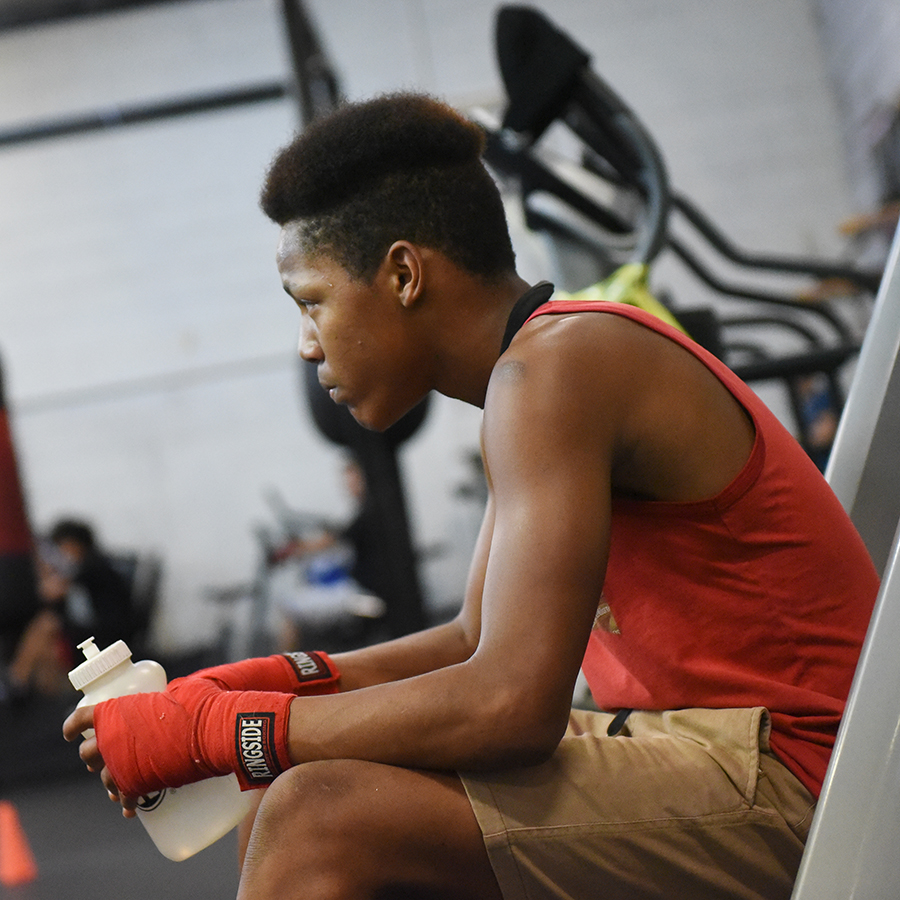 Youth boxer mentally preparing for the road to come