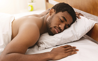 Sleeping in to help the body recover