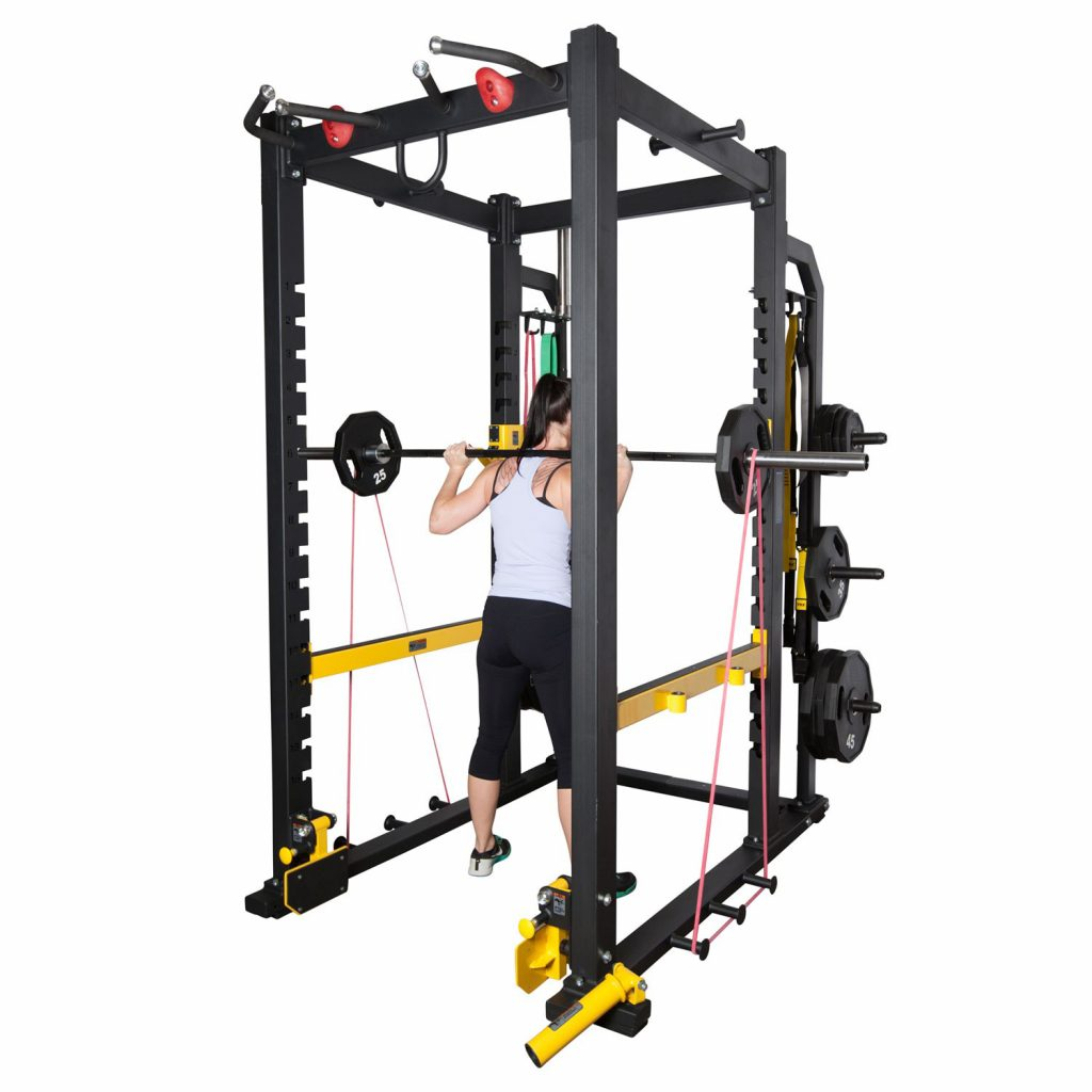 Squats using the Fitness First Power Rack.